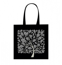 shopping bag design art tree vector image vector image