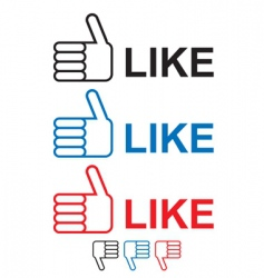 thumbs up like vector image vector image