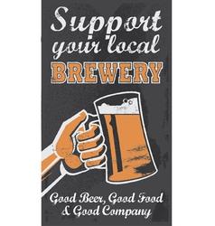 Vintage style Chalkboard beer sign banner vector image vector image