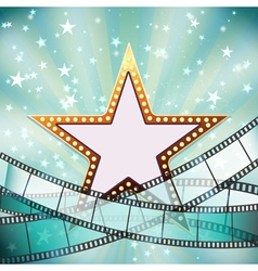 abstract cinema background vector image