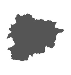 Andorra map black icon on white background vector