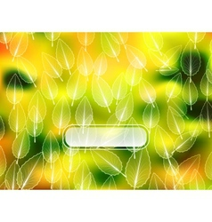 Autumn leaves blur background vector image vector image