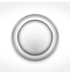Round Gray Button vector image vector image