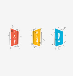 set of modern promo offers vector image
