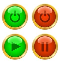 Web buttons vector