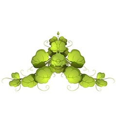 A green leafy plant vector