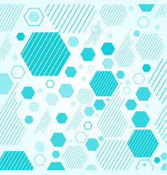 abstract mechanical scheme blue geometric vector image