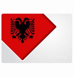 Albanian flag design background vector