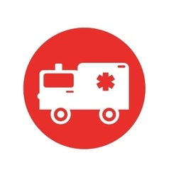 ambulance medical vehicle icon vector image