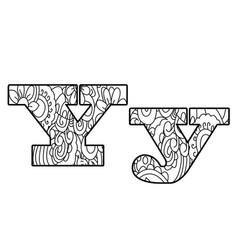 anti coloring book alphabet the letter y vector image