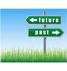 Arrows future past vector