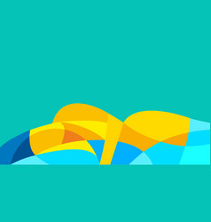 Beautiful woman lying on its side abstract vector