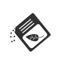 Black icon on white background fertilizer package vector
