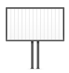 Blank urban advertising board template Past your vector image