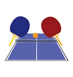 blue table tennis field vector image