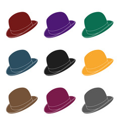 Bowler hat icon in black style isolated on white vector