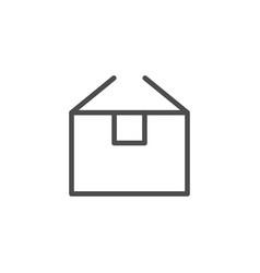 box line icon vector image
