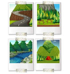 Campsites vector image