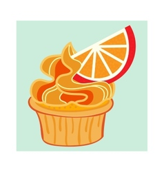 Cartoon Cupcake vector image