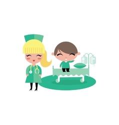 child kid hospital vector image