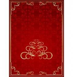 Christmas ornate frame vector