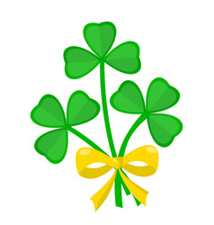 clover bouquet saint patricks day irish holiday vector image