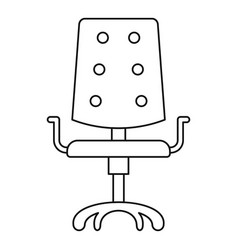 computer chair icon outline style vector image