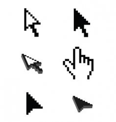 computer cursor vector image