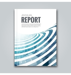 Cover Report Business Colorful Blue Stripes vector