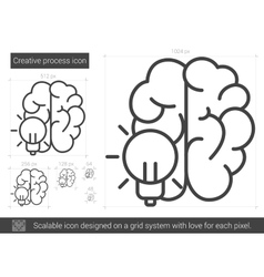 Creative process line icon vector image