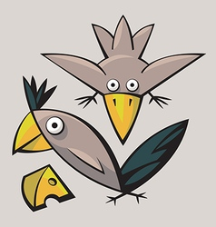 Cute funny Birds vector image