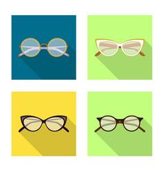 Design glasses and frame logo set of vector