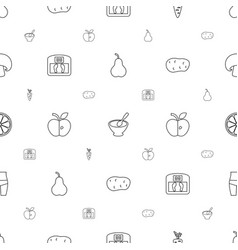 Diet icons pattern seamless white background vector