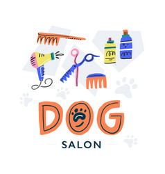 Dog salon concept vector