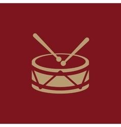 Drum icon design music and toy drum symbol web vector