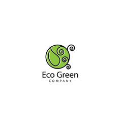 Eco green logo design icon vector