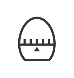 egg timer line style isolated icon vector image