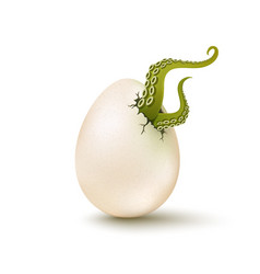 egg with aliens tentacles vector image