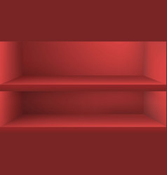 Empty color shelve with shadow vector
