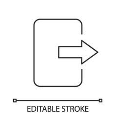 exit button linear icon vector image