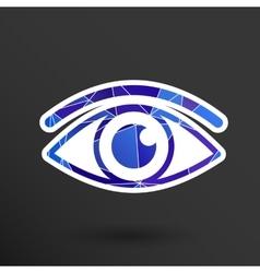 Eye icon vision symbol look graphic vector image vector image