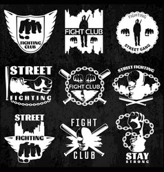 Fight clubs emblems vector