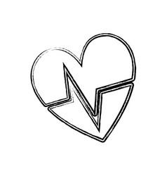 Figure nice heartbeat to cardiac rhythm vector