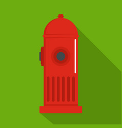 fire column icon flat style vector image