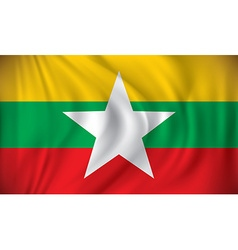 Flag of burma vector