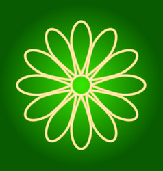 Flower icon easter vector