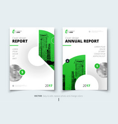 Flyer design corporate business report cover vector