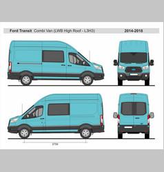 Ford transit combi delivery van l3h3 2014-2018 vector