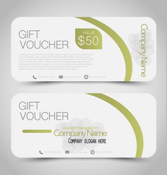 gift card voucher business banner vector image