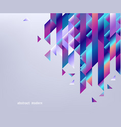 gradient bright colorful geometric shapes and vector image